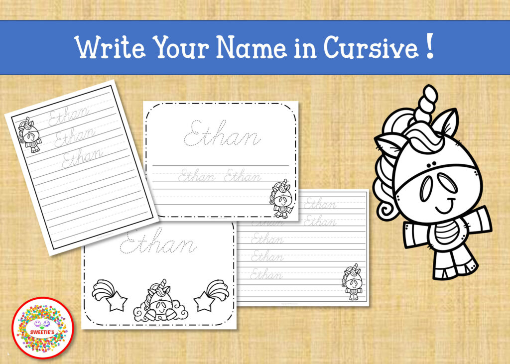 Create Your Own Handwriting Worksheets | Printable Regarding Tracing Name Ethan