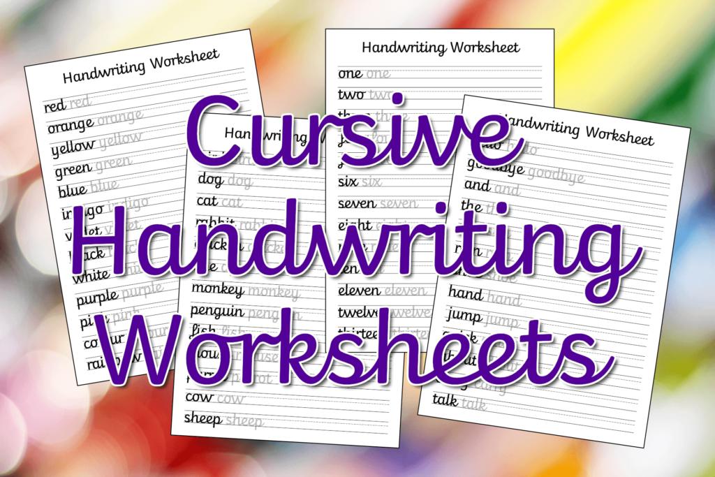 Cursive Handwriting Worksheets – Free Printable! | Mama Geek For Name Tracing Cursive
