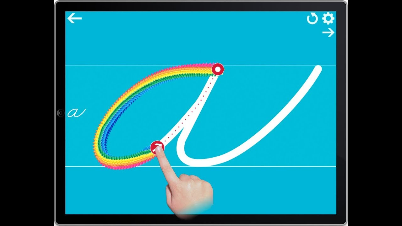 Cursive Writing Wizard Demo - Tracing App For Ipad, Iphone & Android throughout Alphabet Tracing On Ipad