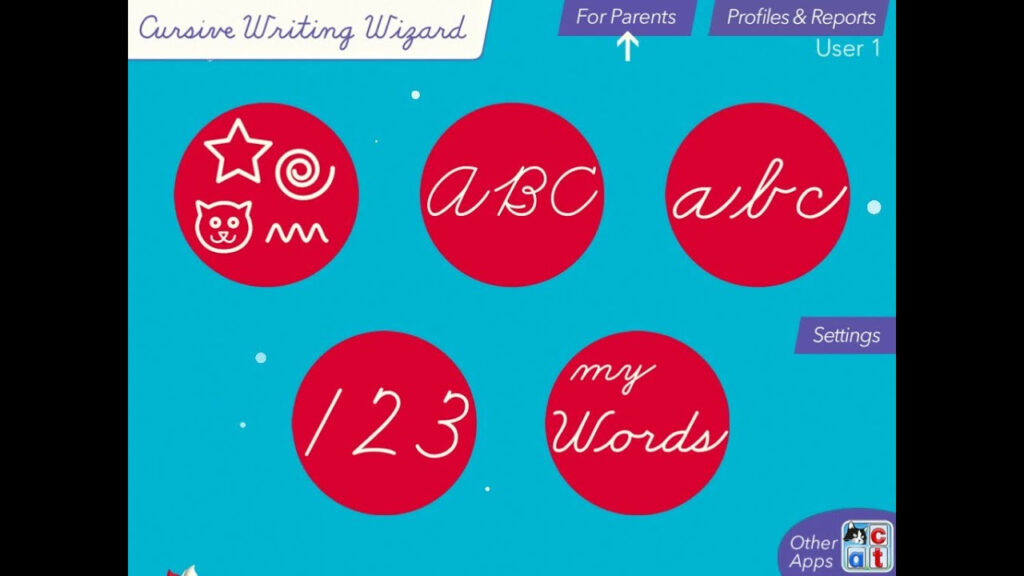Cursive Writing Wizard   Trace Letters And Words Intended For Name Tracing Writing Wizard