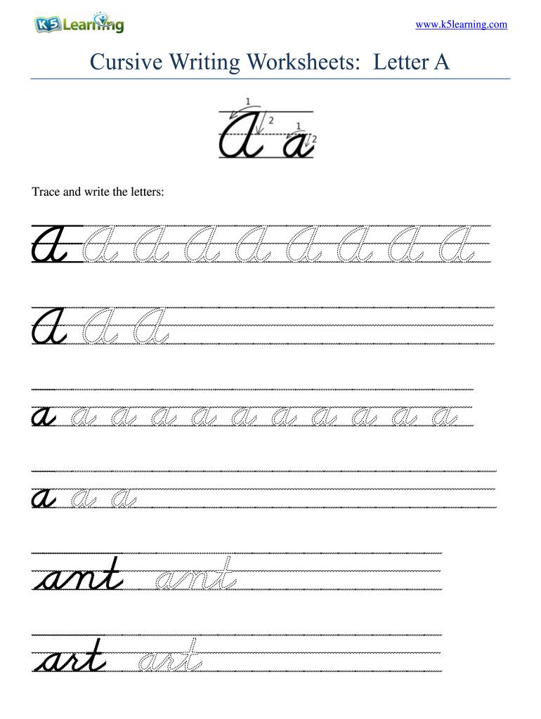 Cursive Writing Worksheets Pdf   Fill Online, Printable Throughout Alphabet Worksheets Cursive