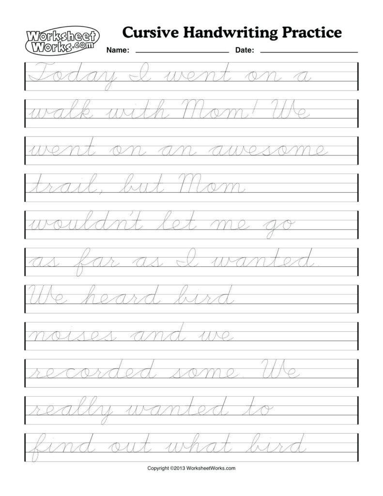 Cursive Writing Worksheets Printable Adults | Printable With Alphabet Handwriting Worksheets For Adults
