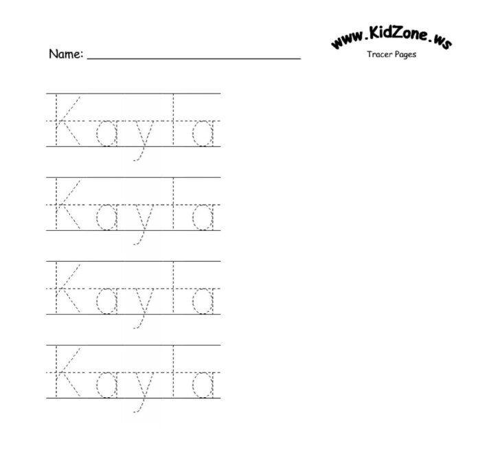 Name Tracing Template Blank