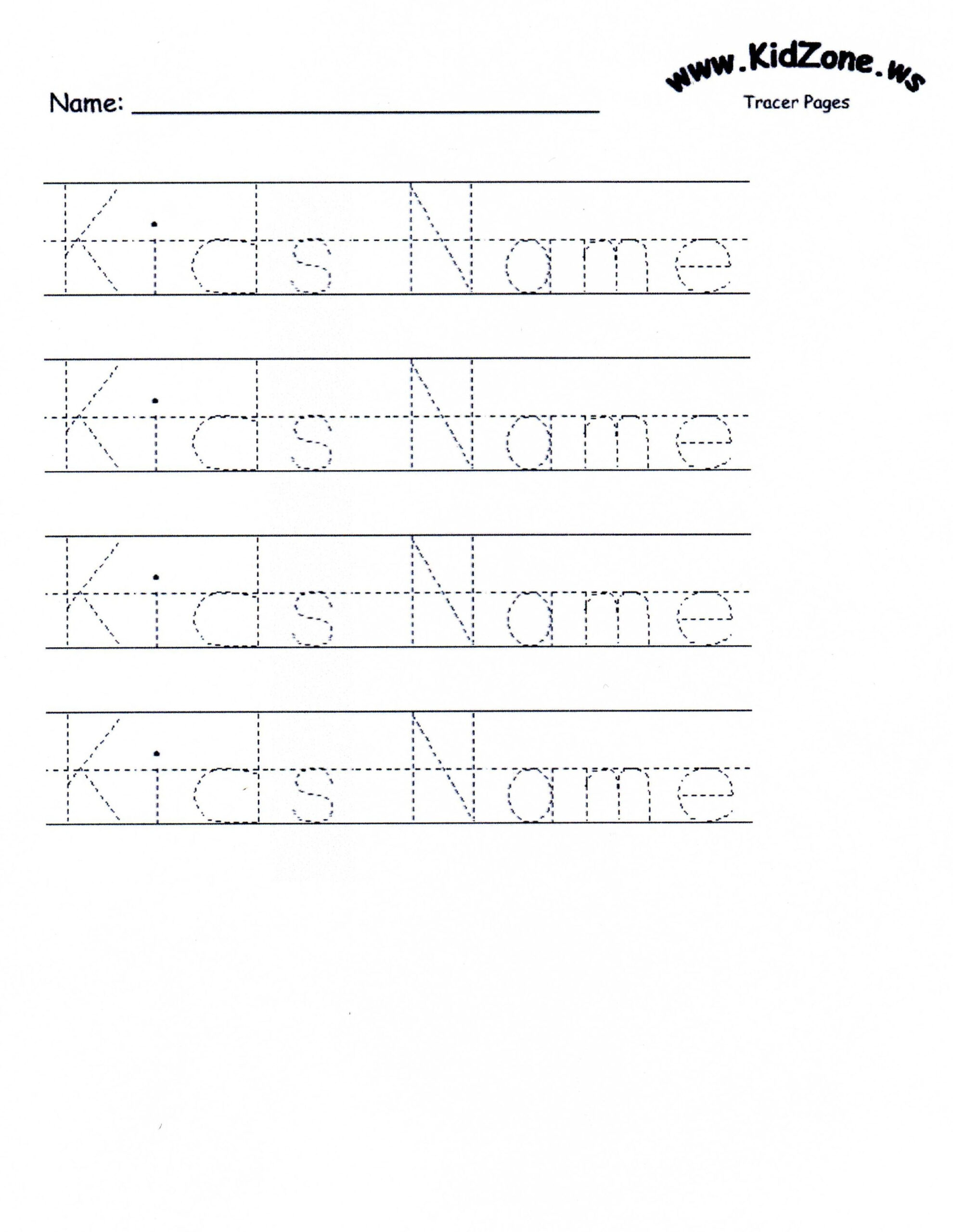 Customizable Printable Letter Pages | Name Tracing within Name Tracing Kidzone