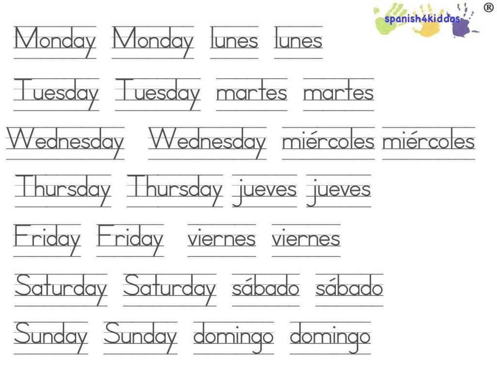 Days Of The Week Printable | Learning Spanish, Spanish within Alphabet Worksheets In Spanish