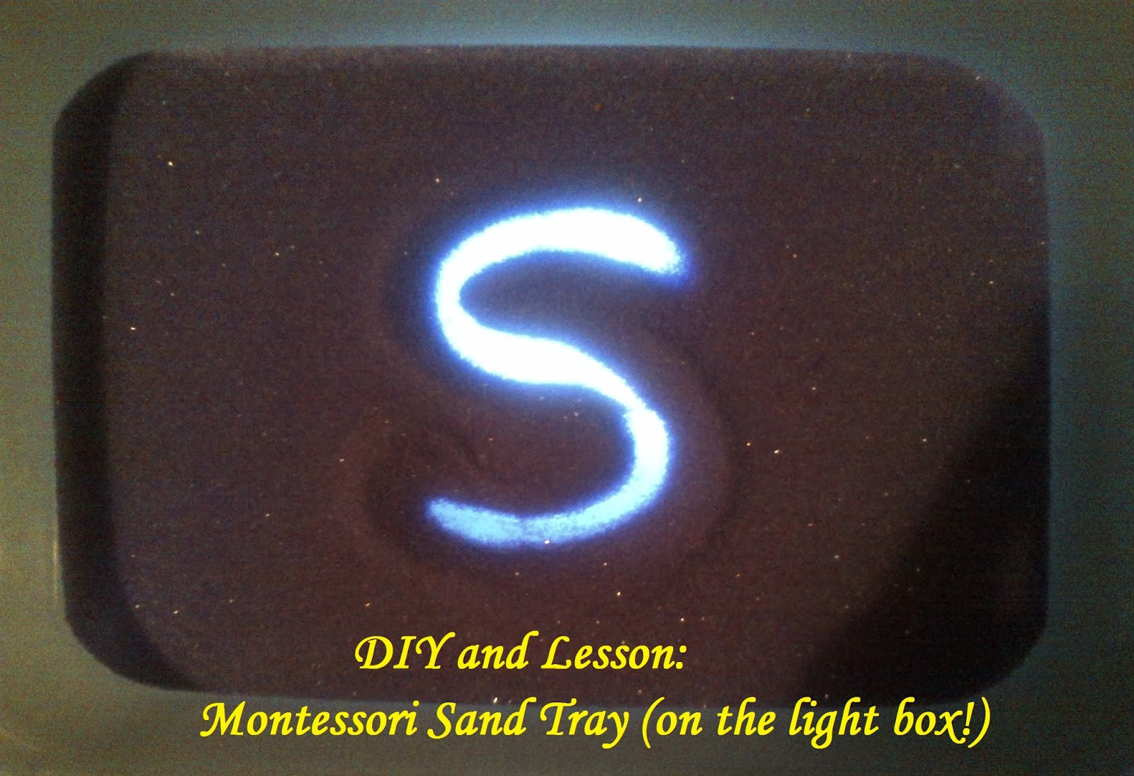 Diy And Lesson: Montessori Sand Tray ⋆ Sugar, Spice And Glitter within Letter Tracing In Sand