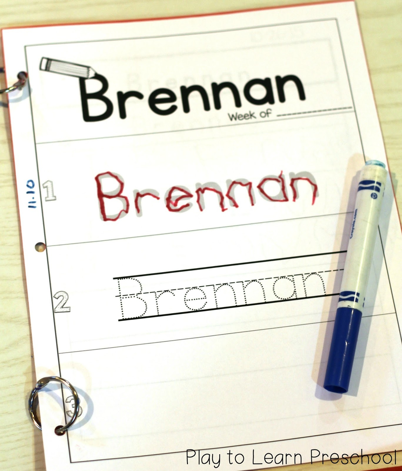 Easy Name Practice in Name Tracing Beginner
