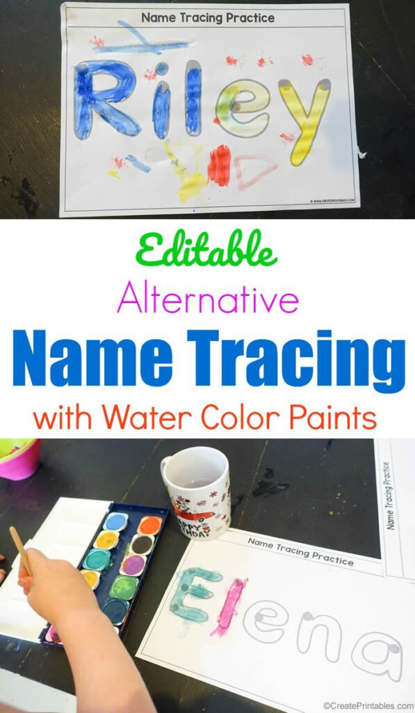 Editable Alternative Name Tracing With Paint   Preschool With Name Tracing Create