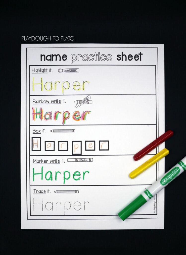 Editable Name Games   Kindergarten Names, Preschool Writing Within Editable Name Tracing Pages