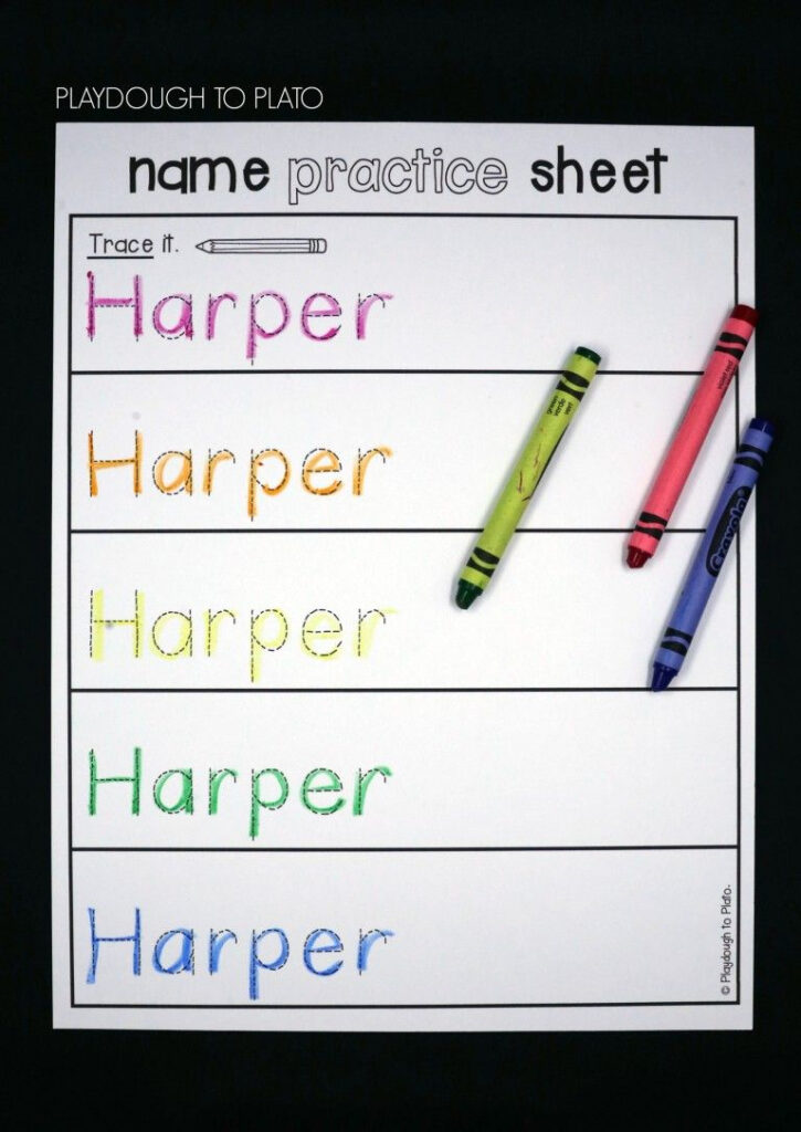 Editable Name Games   Name Writing Practice, Preschool Names Throughout Editable Name Tracing Pages