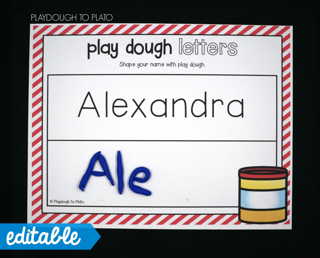 Editable Name Games Regarding Name Tracing Mats