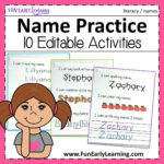 Editable Name Practice | Name Practice, Letter Activities Regarding Zachary Name Tracing