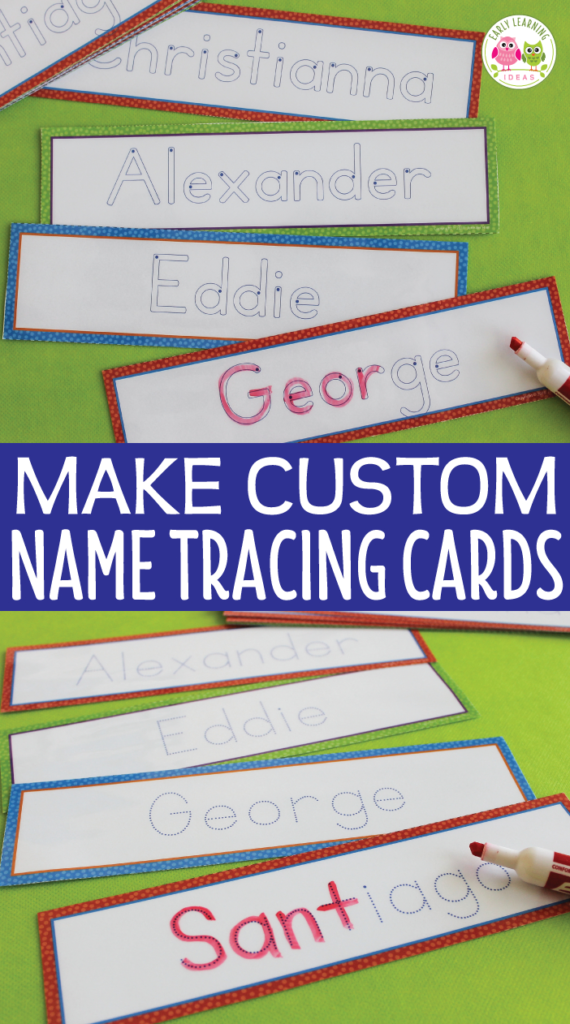 Editable Name Tracing Cards | Name Writing Activities For For Pre K Name Tracing Template