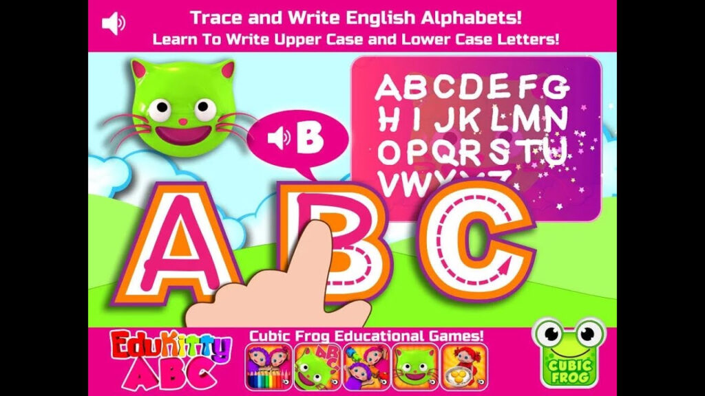 "Edukitty Abc! Letter Tracing ""educational Brain Games"" Android Kids Games  Video With Regard To Letter Tracing Video"