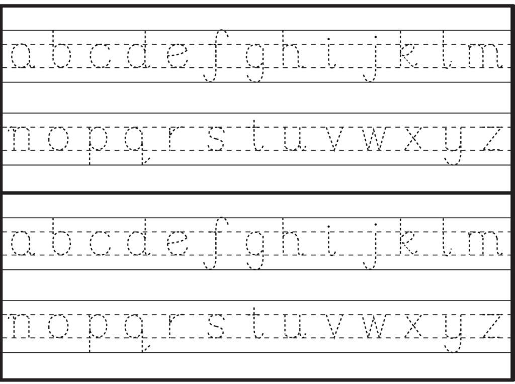 English Alphabet Worksheet For Kindergarten | Alphabet Intended For Alphabet Tracing Handout