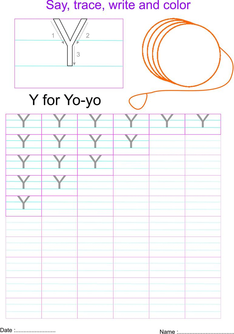 English Capital Letter 'y' Worksheet with regard to Letter Y Worksheets Pdf