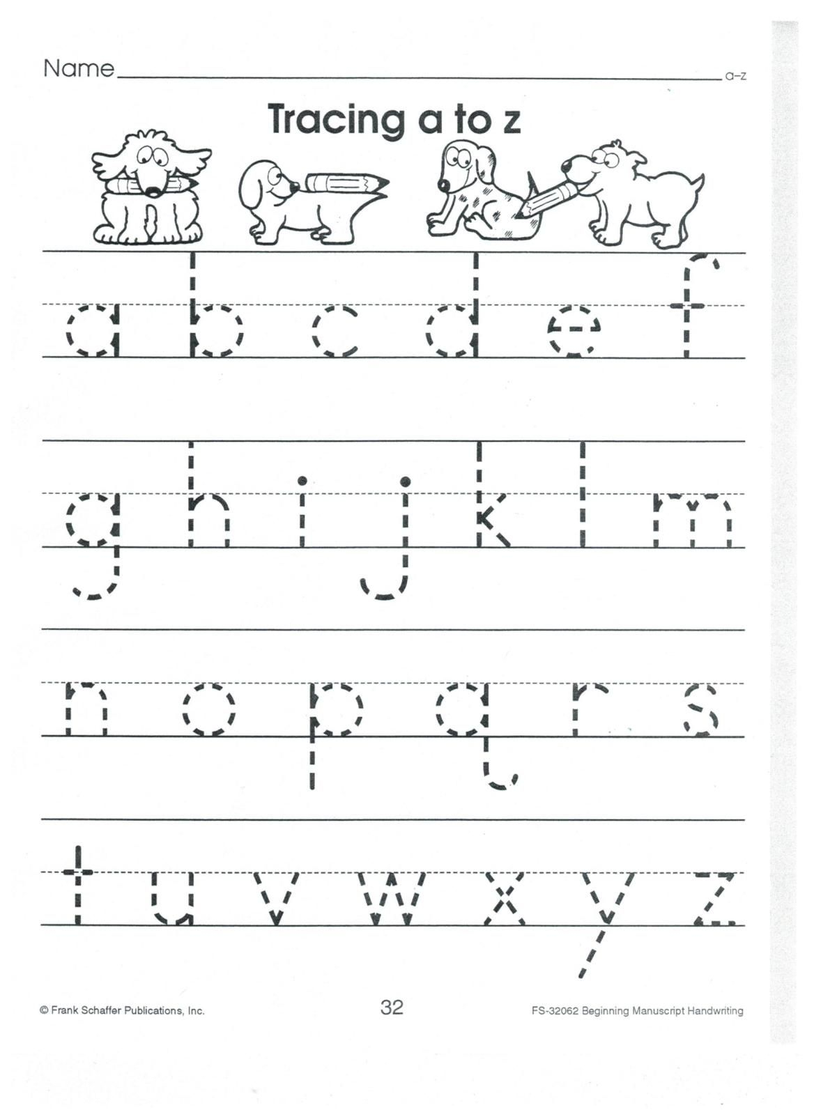 English Print Abc A To Z Lower Case 001 | Alphabet Tracing throughout A To Z Name Tracing Worksheets