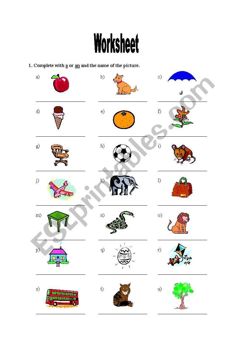 English Worksheets: Alphabet Vocabulary throughout Alphabet Vocabulary Worksheets
