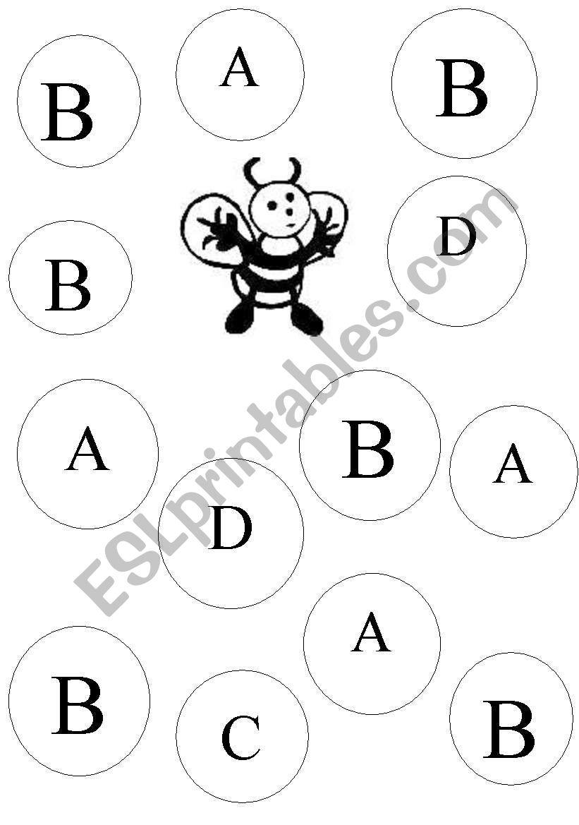English Worksheets: Letter B Recognition inside Alphabet Recognition Worksheets