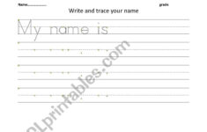 Tracing Your Name Worksheets