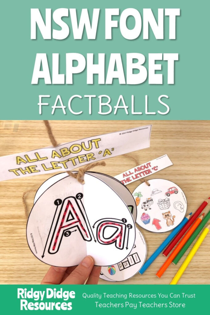 Factballs Are A Unique Craftivity That Not Only Create A With Alphabet Tracing Nsw Foundation Font