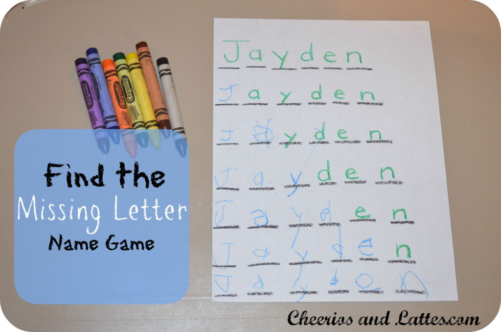 Find The Missing Letter Name Game   Love This Idea!   Sınıf With Regard To Name Tracing Jayden