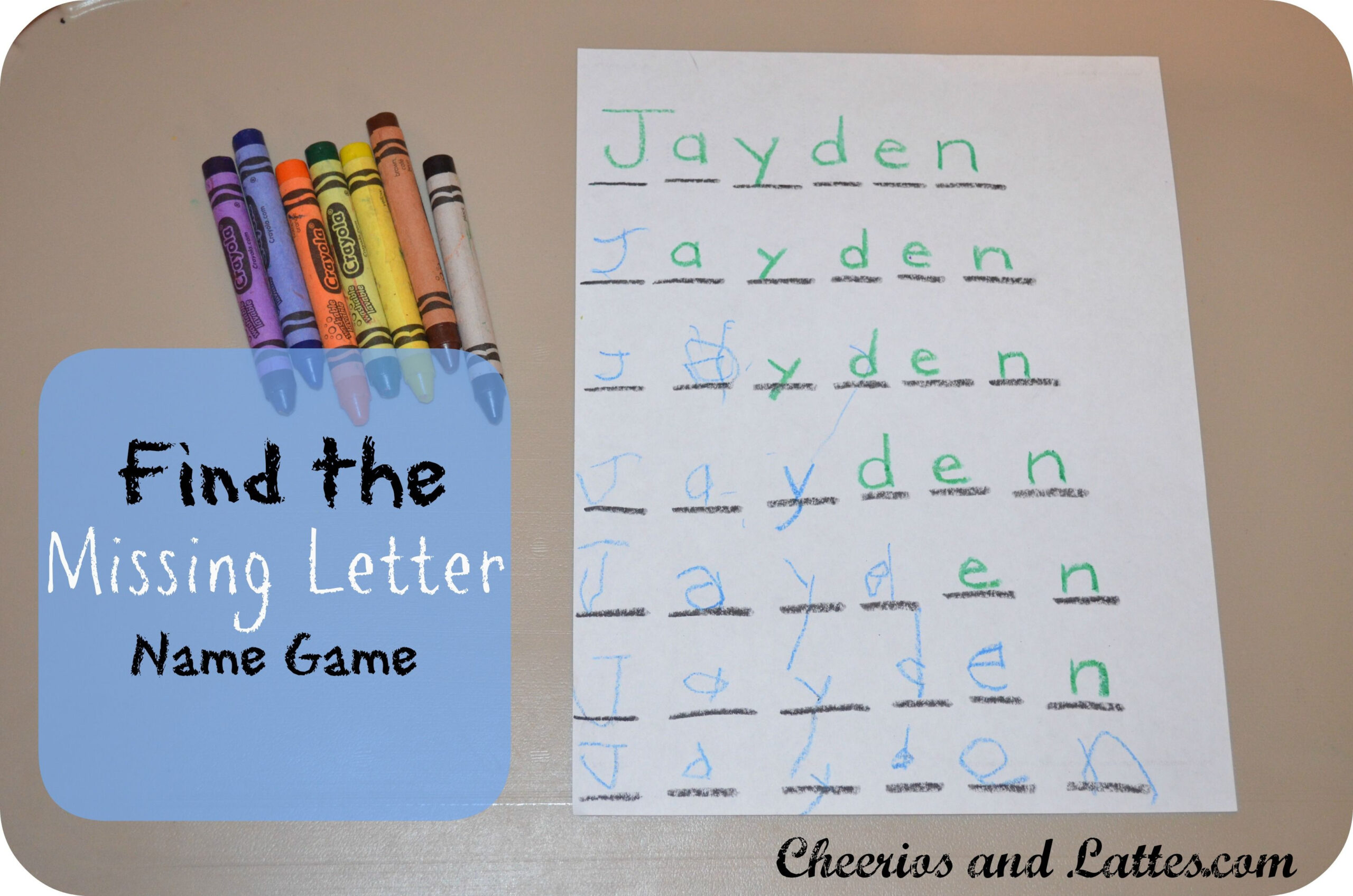 Find The Missing Letter Name Game - Love This Idea!   Sınıf with regard to Name Tracing Jayden