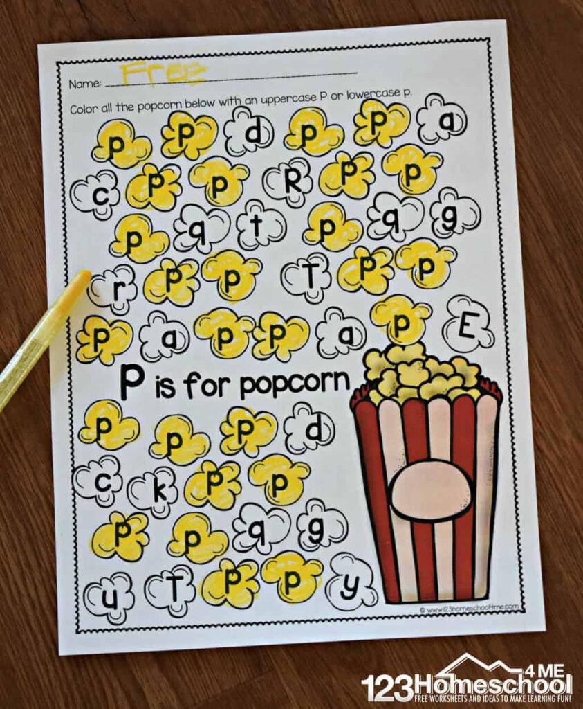 Free A To Z Letter Find Worksheets Inside Letter Identification Worksheets Pdf