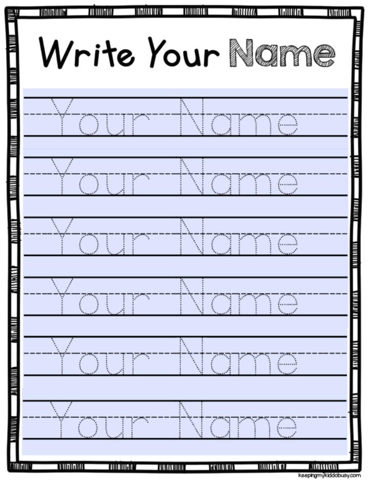 Editable Name Tracing Preschool