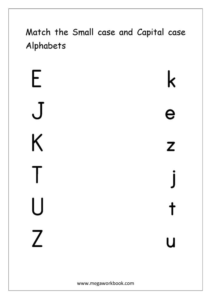Free English Worksheets   Alphabet Matching   Megaworkbook Within Alphabet Matching Worksheets For Kindergarten Pdf