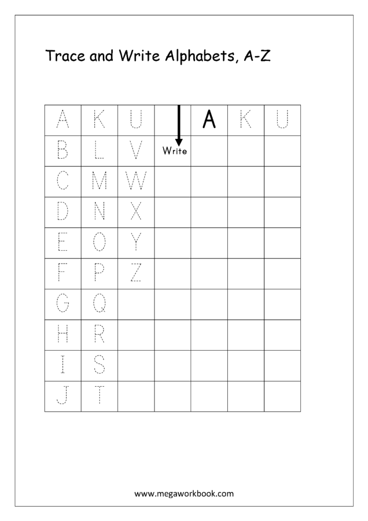 Free English Worksheets   Alphabet Writing (Capital Letters For Alphabet Tracing Notebook