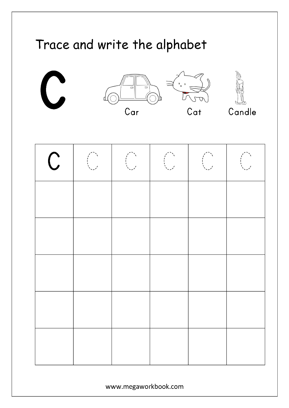 Free English Worksheets - Alphabet Writing (Capital Letters intended for Alphabet Worksheets Writing