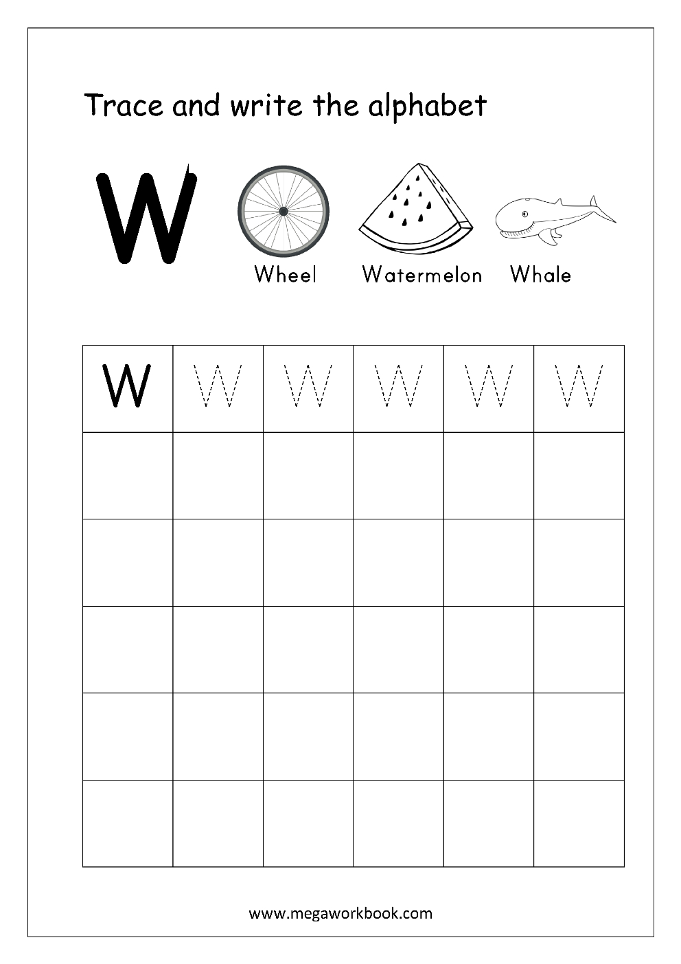 Free English Worksheets - Alphabet Writing (Capital Letters within 4 Line Alphabet Worksheets