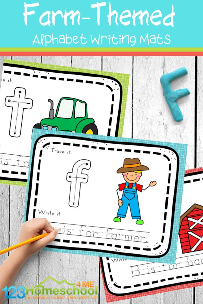 Free Farm Alphabet Mats With Regard To Alphabet Tracing Mat