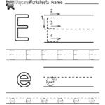 Free Letter E Alphabet Learning Worksheet For Preschool Inside Letter E Worksheets For Nursery