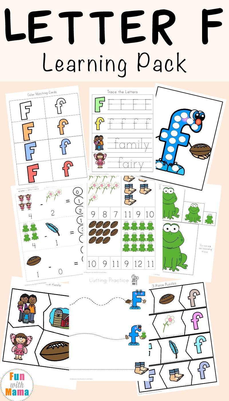 Free Letter F Worksheets | Kindergarten Letters, Letter F regarding Letter F Worksheets For Pre K