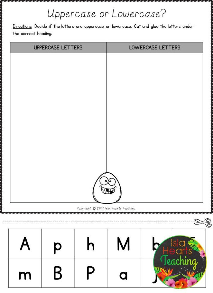 Free Letter Sorts (Uppercase And Lowercase Letters Of The Throughout Alphabet Sorting Worksheets
