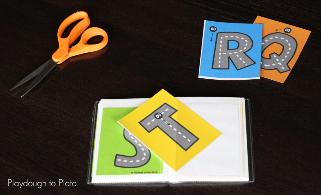 Free Letter Tracing Roads   Playdough To Plato Pertaining To Alphabet Tracing Road