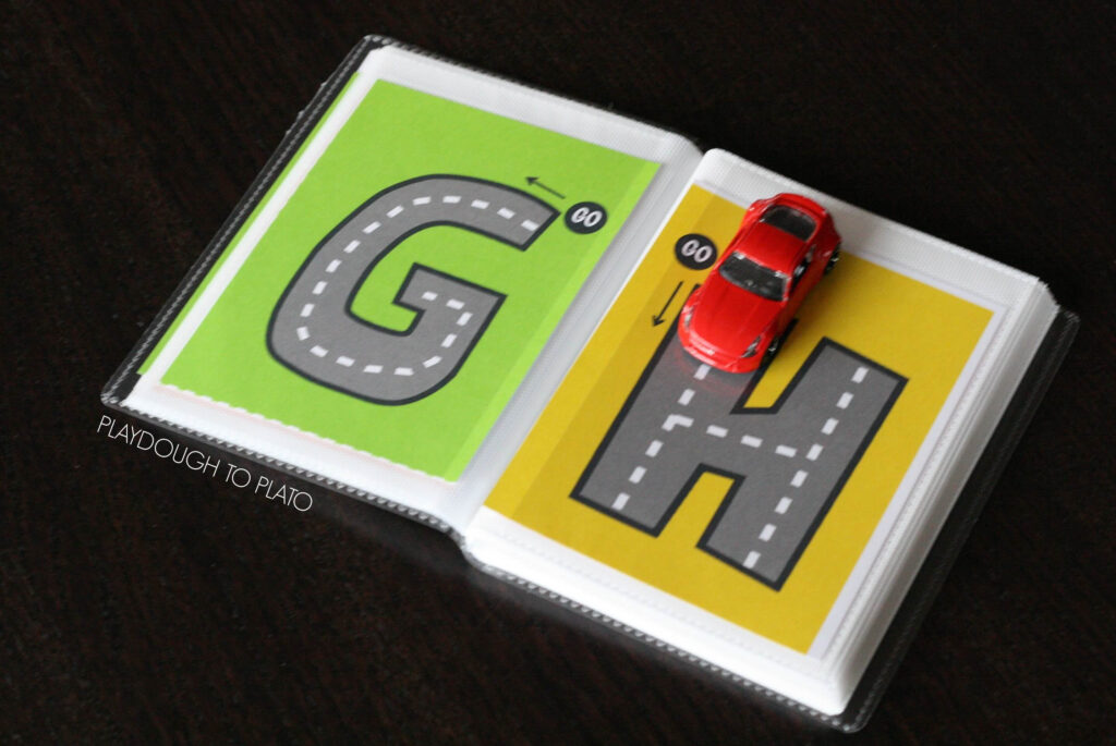 Free Letter Tracing Roads   Playdough To Plato With Regard To Alphabet Road Tracing Book