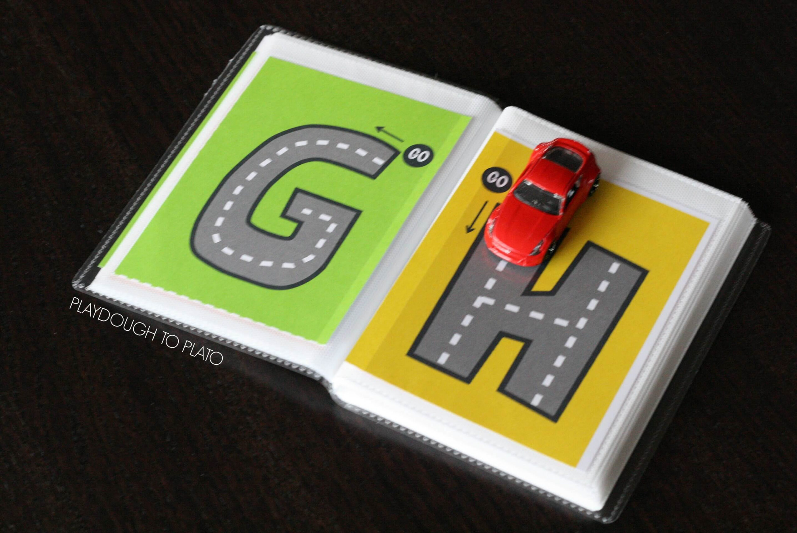Free Letter Tracing Roads - Playdough To Plato with regard to Alphabet Road Tracing Book