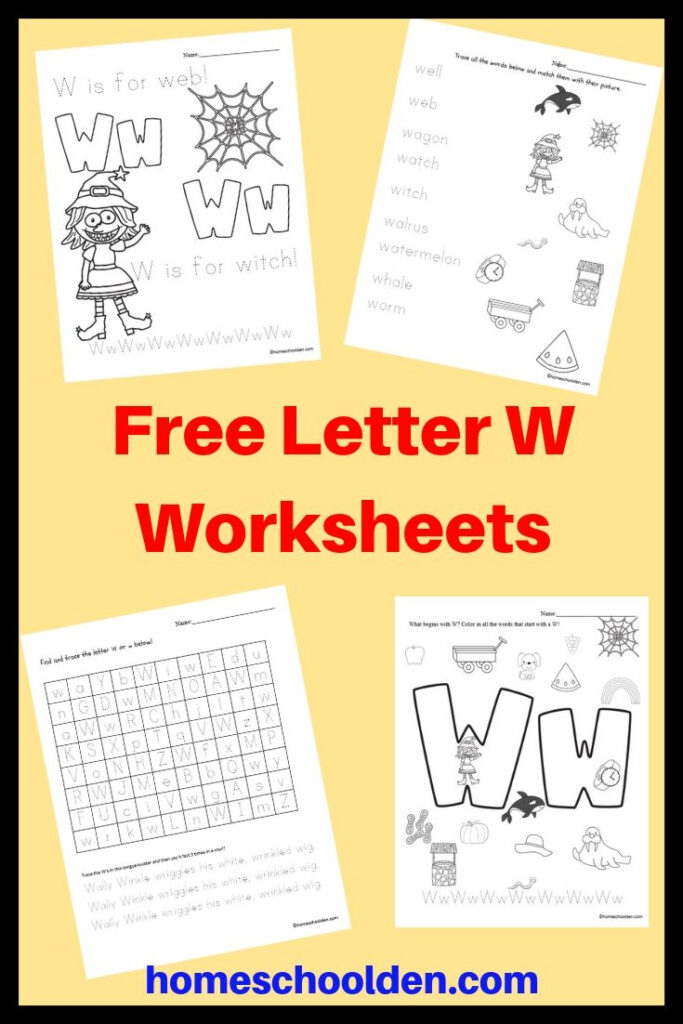 Free Letter W Worksheets | Letter W Activities, Free For Letter W Tracing Paper