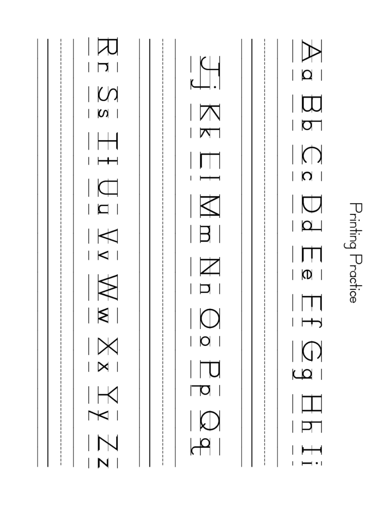 Free Lowercase Letter Worksheets   Zb Printing Practice With Upper And Lowercase Alphabet Worksheets