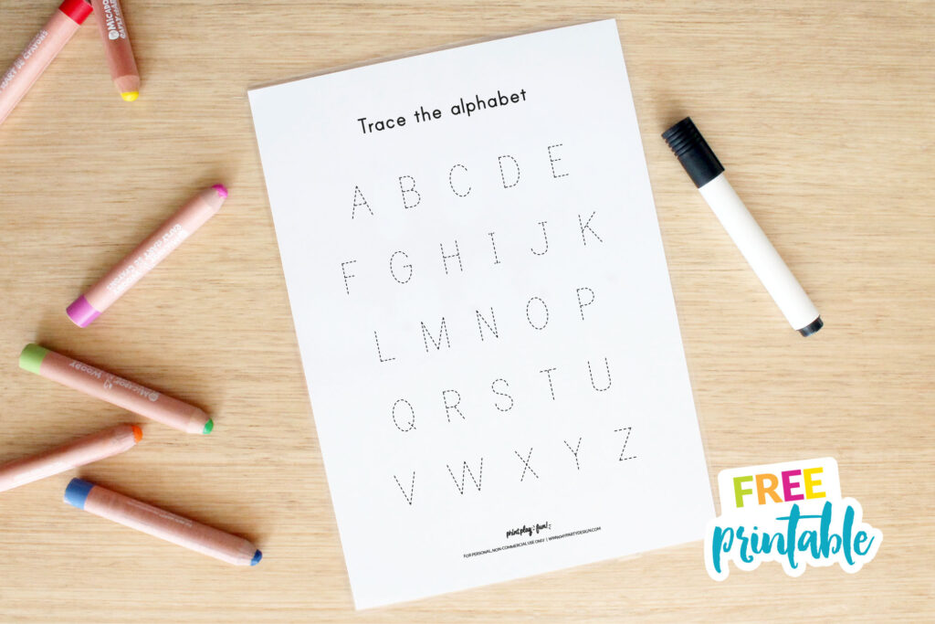 Free Name And Alphabet Tracing Mat | My Party Design In Letter Tracing Editable