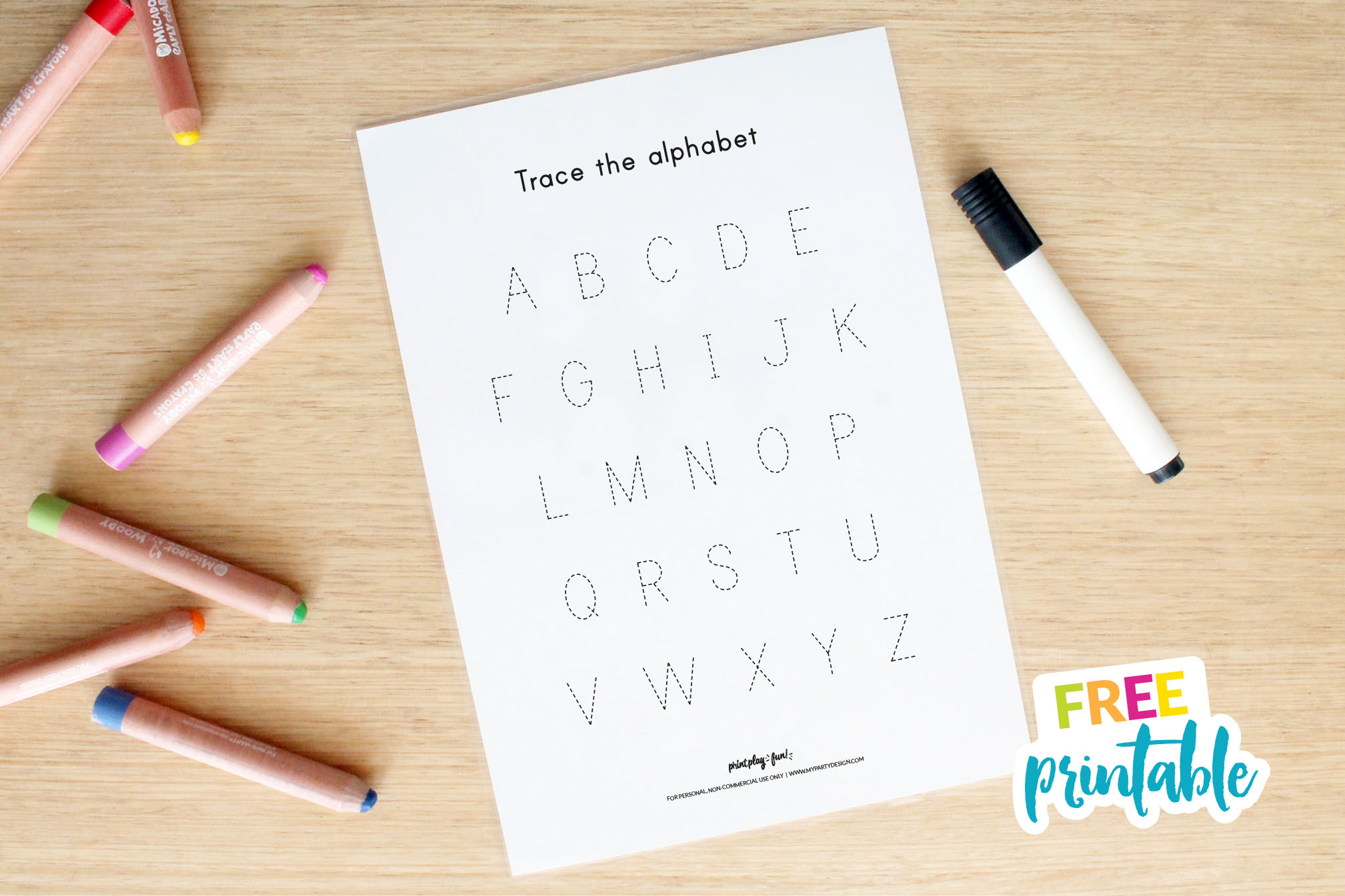 Free Name And Alphabet Tracing Mat   My Party Design with Alphabet Tracing Mat