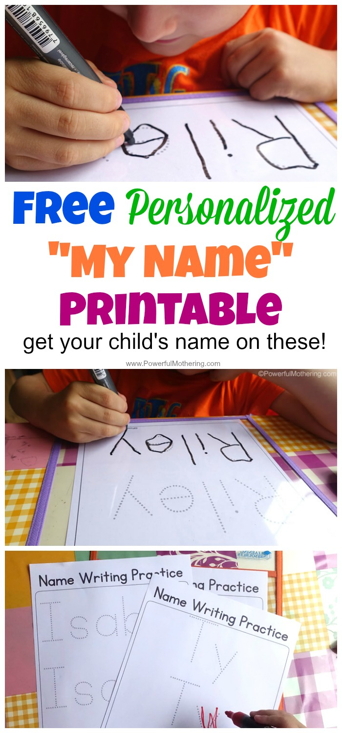 Free Name Tracing Worksheet Printable + Font Choices in Pre-K Name Tracing Sheets