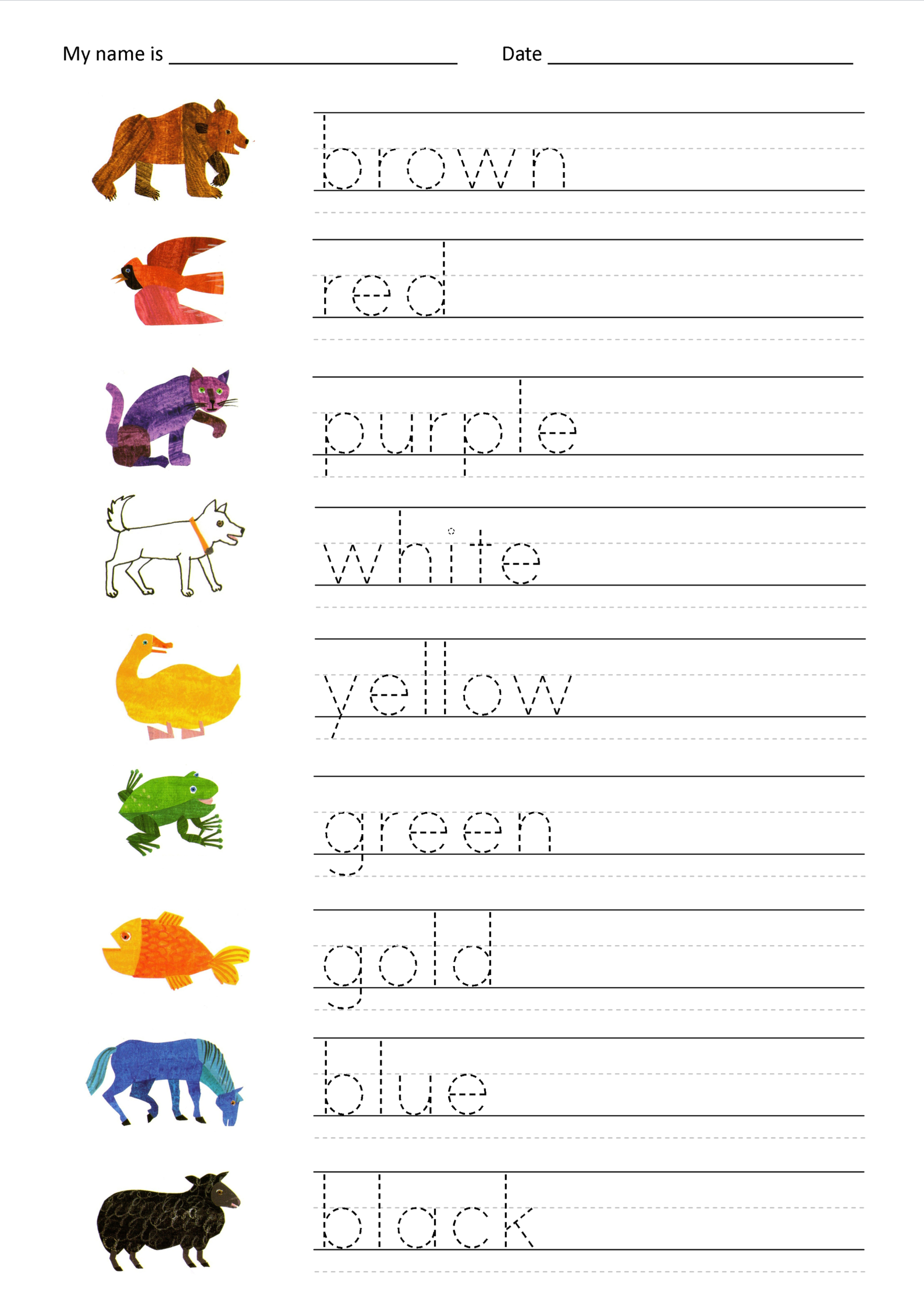 Free Name Tracing Worksheets Pictures - Activities Free intended for Name Tracing Colored