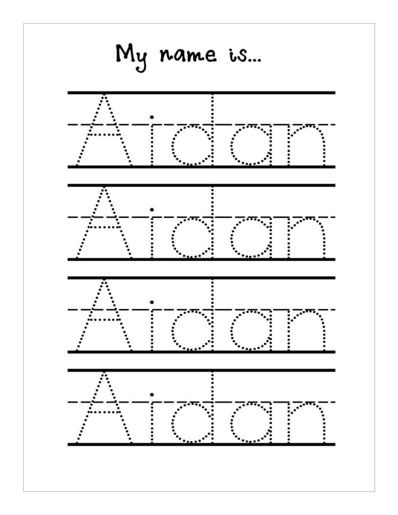Free Name Worksheets For Preschool   Clover Hatunisi Throughout Tracing Your Name Template