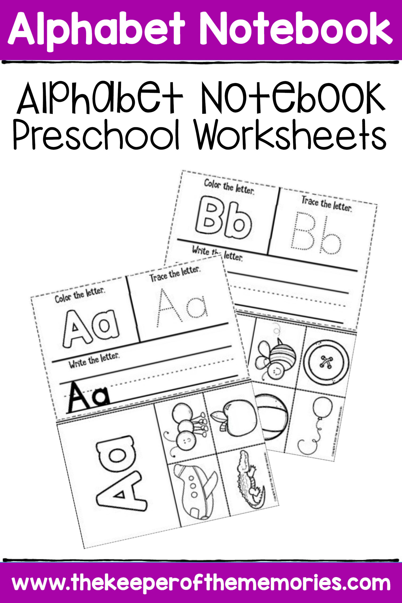 Free Printable Alphabet Notebook Preschool Worksheets throughout Alphabet Tracing Notebook