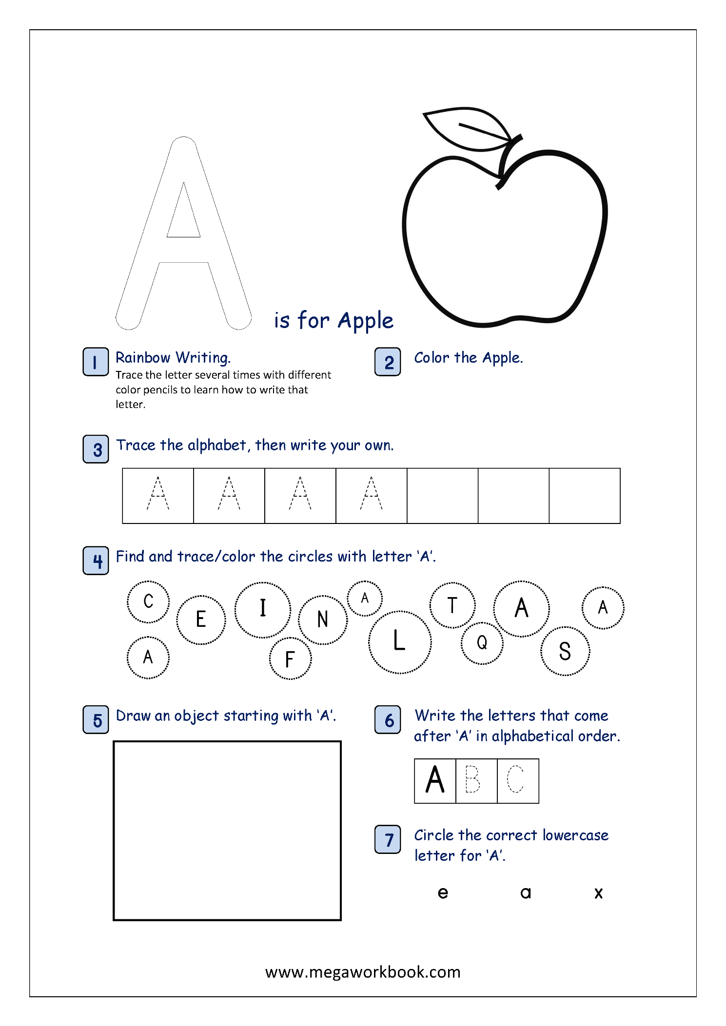 Free Printable Alphabet Recognition Worksheets For Capital for Alphabet Tracing Order