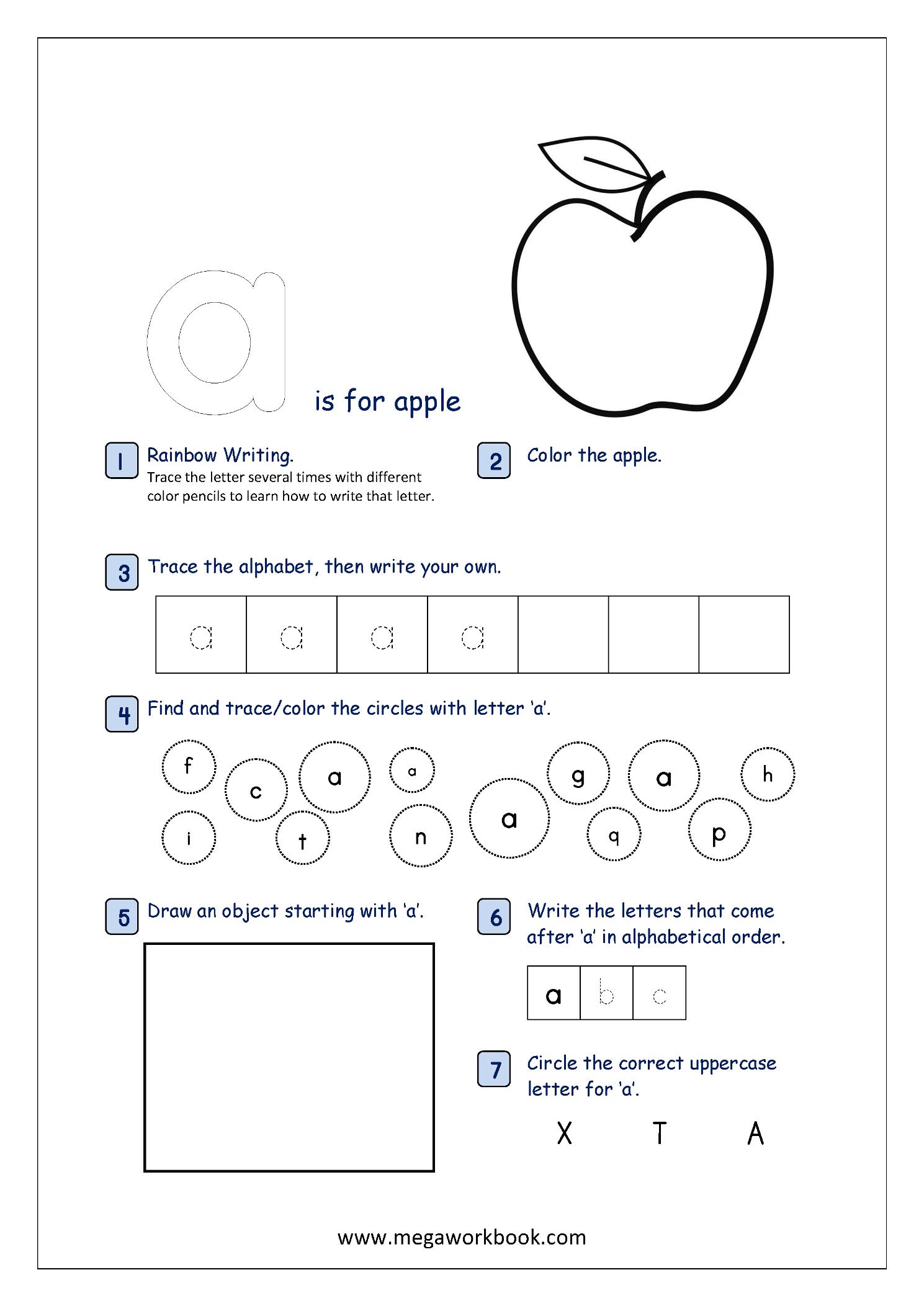 Free Printable Alphabet Recognition Worksheets For Small intended for Alphabet Recognition Worksheets